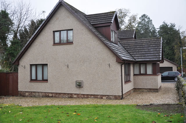 Photograph of a new build in Newton Stewart
